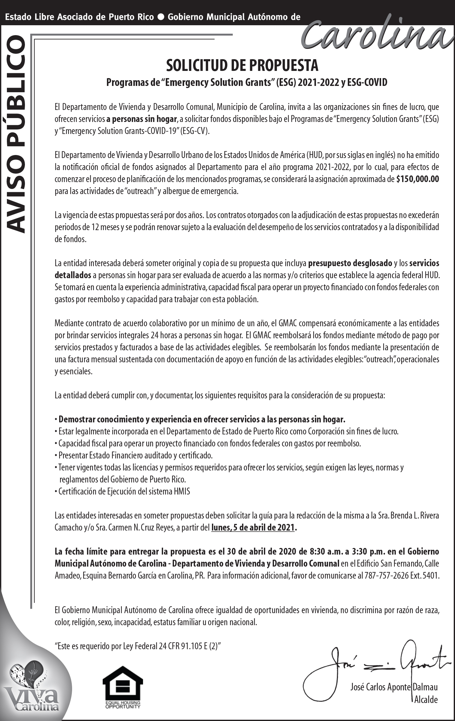 AVISO ESG 8 X 5
